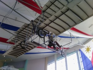 War plane suspended from ceiling