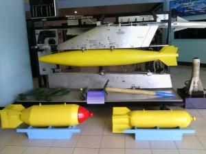 Missiles on display