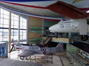 War planes on display inside the PAF museum
