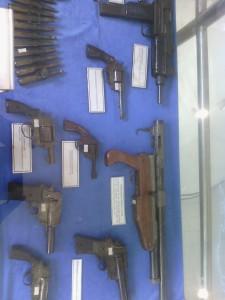 Old guns on display