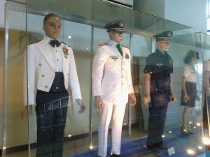 Different military uniforms