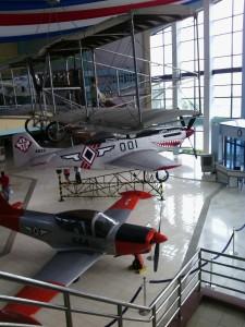 War planes on display