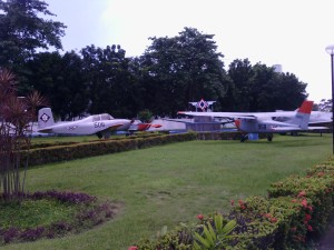 War planes outside the museum