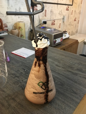 Vulcan Frappe (double chocolate) at P170