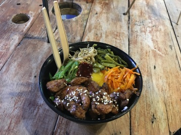 Korean grilled chicken bowl at P149
